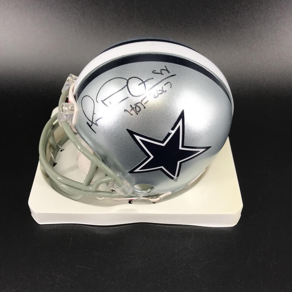 Legends - Cowboys Michael Irvin Signed Mini Helmet with HOF Inscription