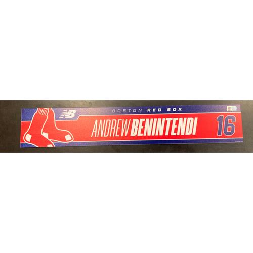 Photo of Andrew Benintendi Team Issued Locker Tag