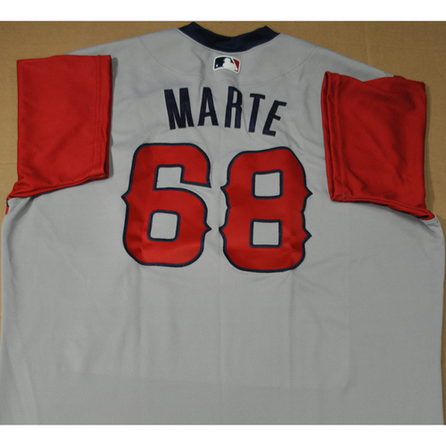 Photo of Team Issued Jersey - 2021 Little League Classic - Los Angeles Angels vs. Cleveland Indians - 8/22/2021 - West, Jose Marte #68