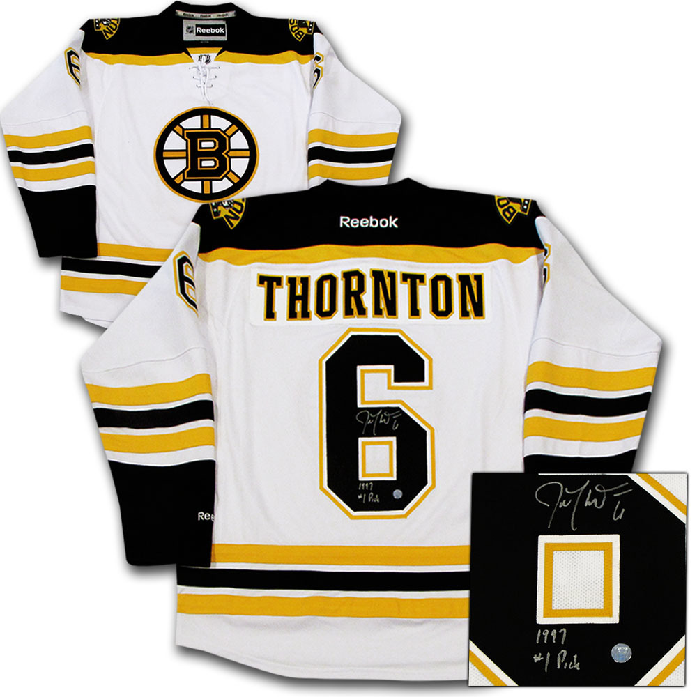 Joe Thornton Autographed Boston Bruins Jersey w/1997 #1 PICK Inscription