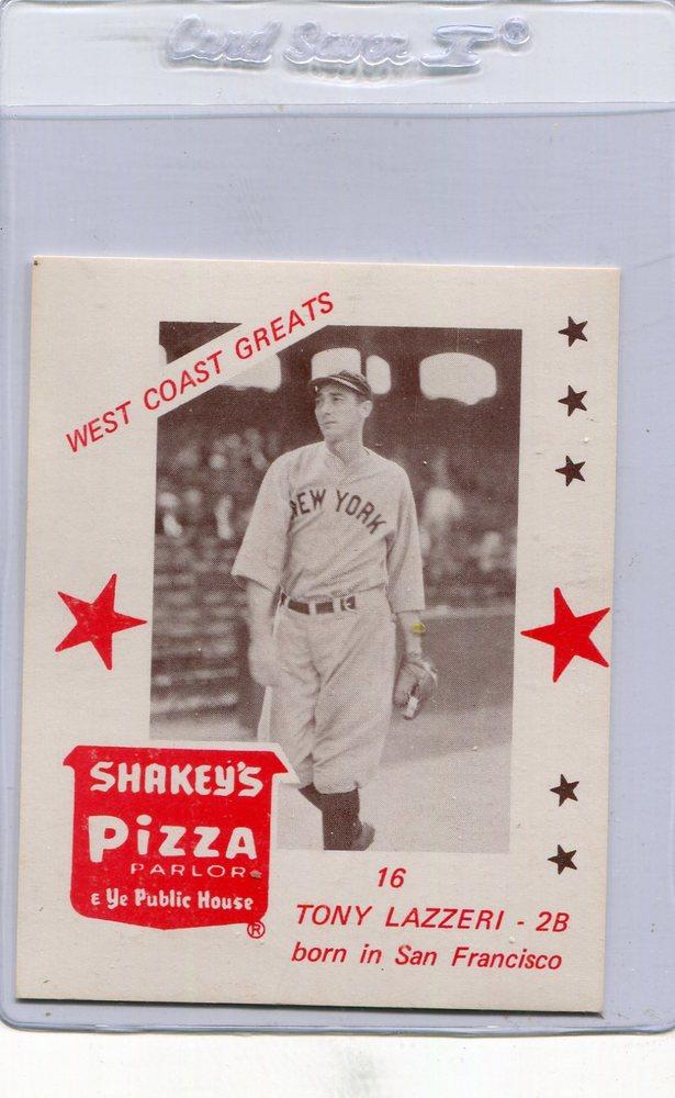1975 Shakey's Pizza #16 Tony Lazzeri
