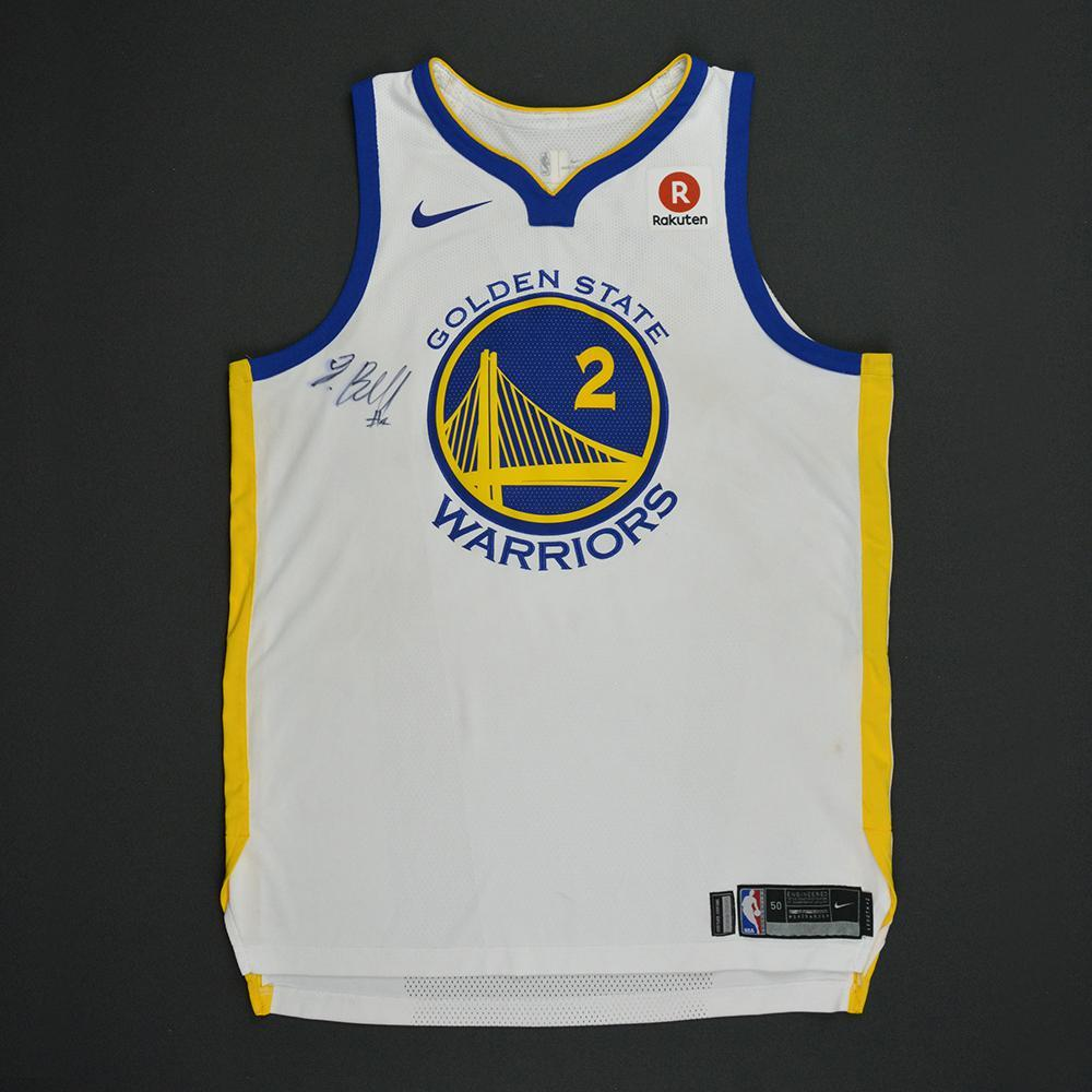 00e365c1f3a Jordan Bell - Golden State Warriors - Opening Night Game-Worn Autographed Jersey  Charity Auction