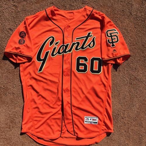 San Francisco Giants - Game-Used Jersey - 2016 Orange Friday Jersey