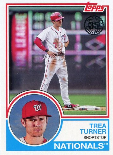 Photo of 2018 Topps '83 Topps #8382 Trea Turner
