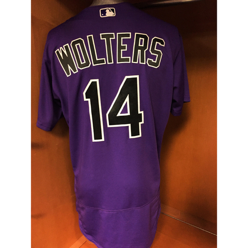 Photo of Colorado Rockies Tony Wolters Game-Used Jersey