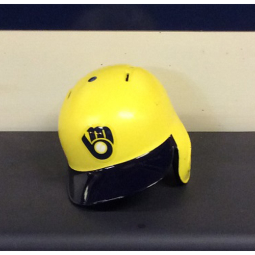 "Photo of Ryan ""OCHO"" Braun Game-Used 2018 Players Weekend Batting Helmet"