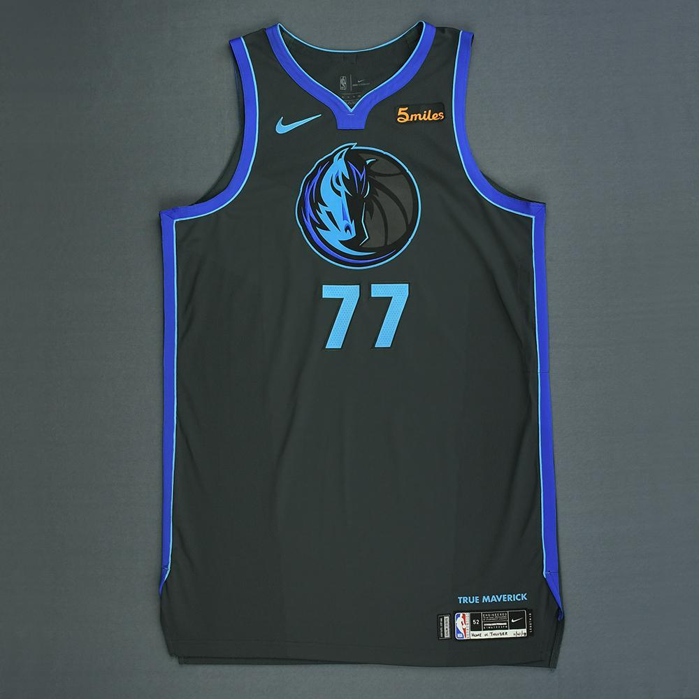 ea8ded2ac3a Luka Doncic - Dallas Mavericks - Game-Worn City Edition Jersey - 2018-19