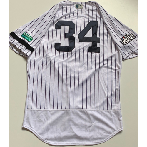 Photo of 2019 London Series - Game-Used Jersey - J.A. Happ, New York Yankees vs Boston Red Sox - 6/29/19
