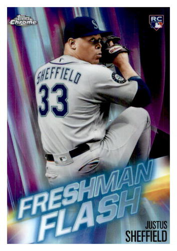 Photo of 2019 Topps Chrome Freshman Flash #FF12 Justus Sheffield