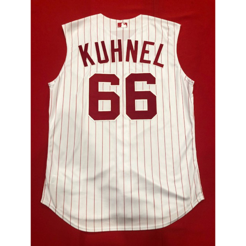 Photo of Joel Kuhnel -- Game-Used 1995 Throwback Jersey -- D-backs vs. Reds on Sept. 8, 2019 -- Jersey Size 48