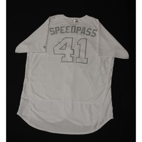 "Photo of Steve ""SPEEDPASS"" Cishek Chicago Cubs Game-Used 2019 Players' Weekend Jersey"