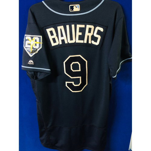 Photo of Game-Used Jersey: Jake Bauers (size 44) - September 29, 2018 v TOR - FIRST MLB SEASON