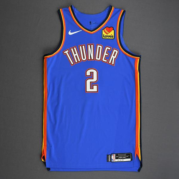 Image of Shai Gilgeous-Alexander - Oklahoma City Thunder - Game-Worn Icon Edition Jersey - Scored Career-High 28 Points - 2019-20 Season