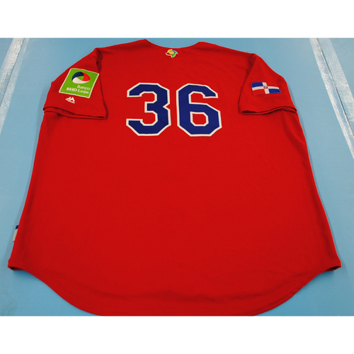 Photo of Game-Used Batting Practice Jersey - 2017 World Baseball Classic - Dominican Republic Jersey #36 - XXL
