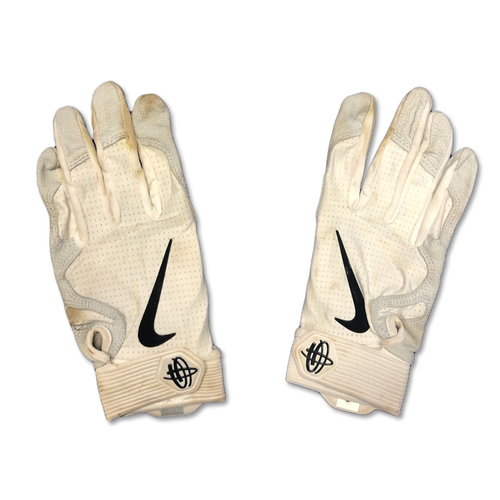 Photo of Team Issued White and Grey Nike Batting Gloves