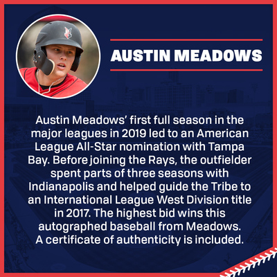 Austin Meadows Autographed Baseball