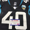 London Games - Jaguars Brandon Watson Game Used Jersey (11/3/19) Size 40 with 25 Seasons Patch