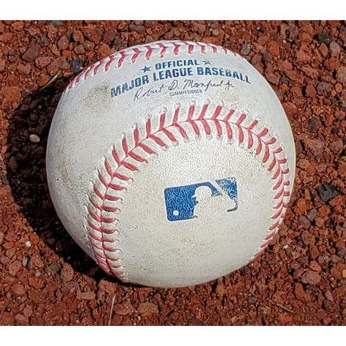 Photo of 2020 Phillies Game-Used Baseball - Alec Bohm 1st Career Multi-Hit Game (single)