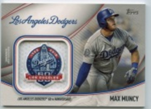 Photo of 2020 Topps Jumbo Special Event Jersey Sleeve Patches #JSESMMU Max Muncy