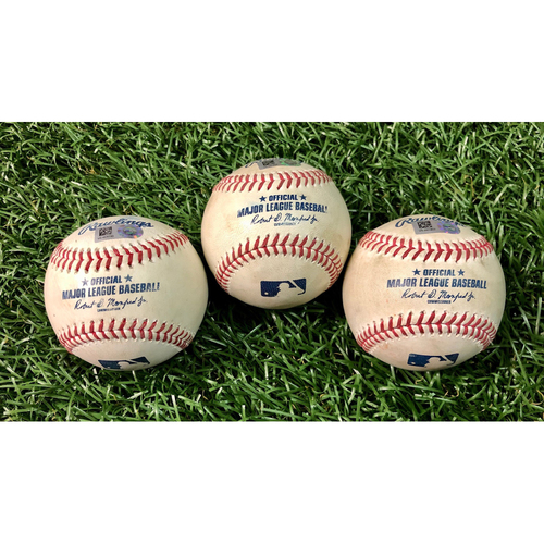 Photo of Game Used Baseball Package: Joey Wendle, Austin Meadows and Ji-Man Choi - August 7 & 9, 2020 v NYY