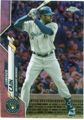 Photo of 2020 Topps Chrome Pink Refractors #153 Lorenzo Cain