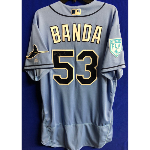 Team Issued Autographed Spring Training Jersey: Anthony Banda - 2019