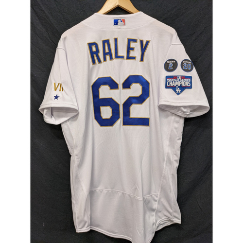 Photo of Luke Raley Game-Used Gold Trim 2021 Opening Weekend Home Jersey