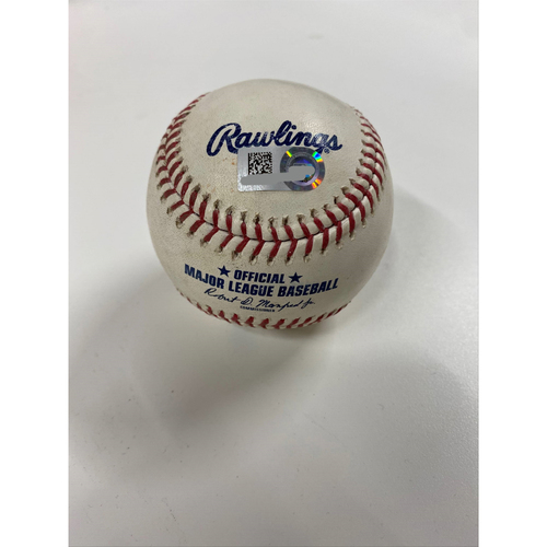 Photo of Game-Used Baseball - Josh Naylor hit by pitch from Alex Colome - 4/27/21 Twins at Indians