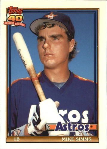 Photo of 1991 Topps Tiffany #32 Mike Simms