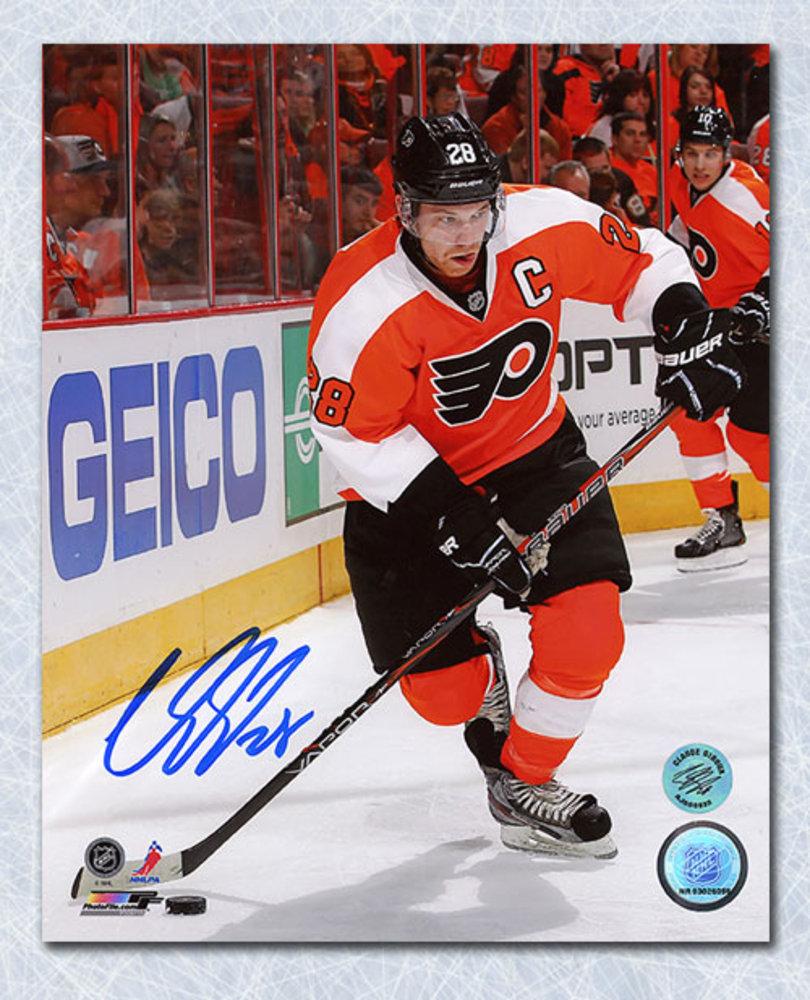 Claude Giroux Philadelphia Flyers Autographed Orange Crush 8x10 Photo