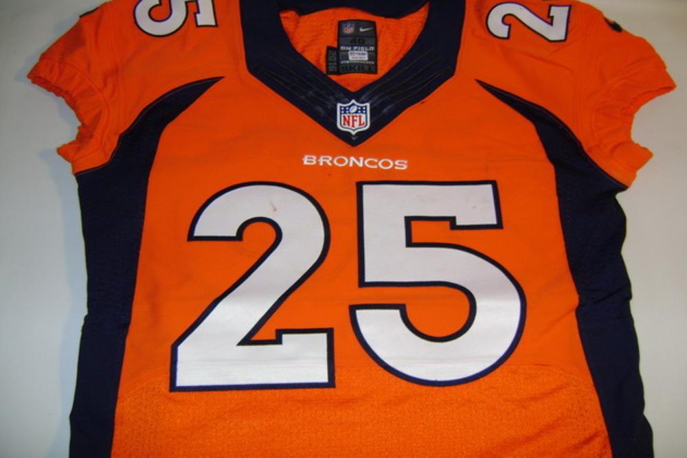 NFL Auction   BCA - BRONCOS CHRIS HARRIS JR. GAME WORN BRONCOS ...