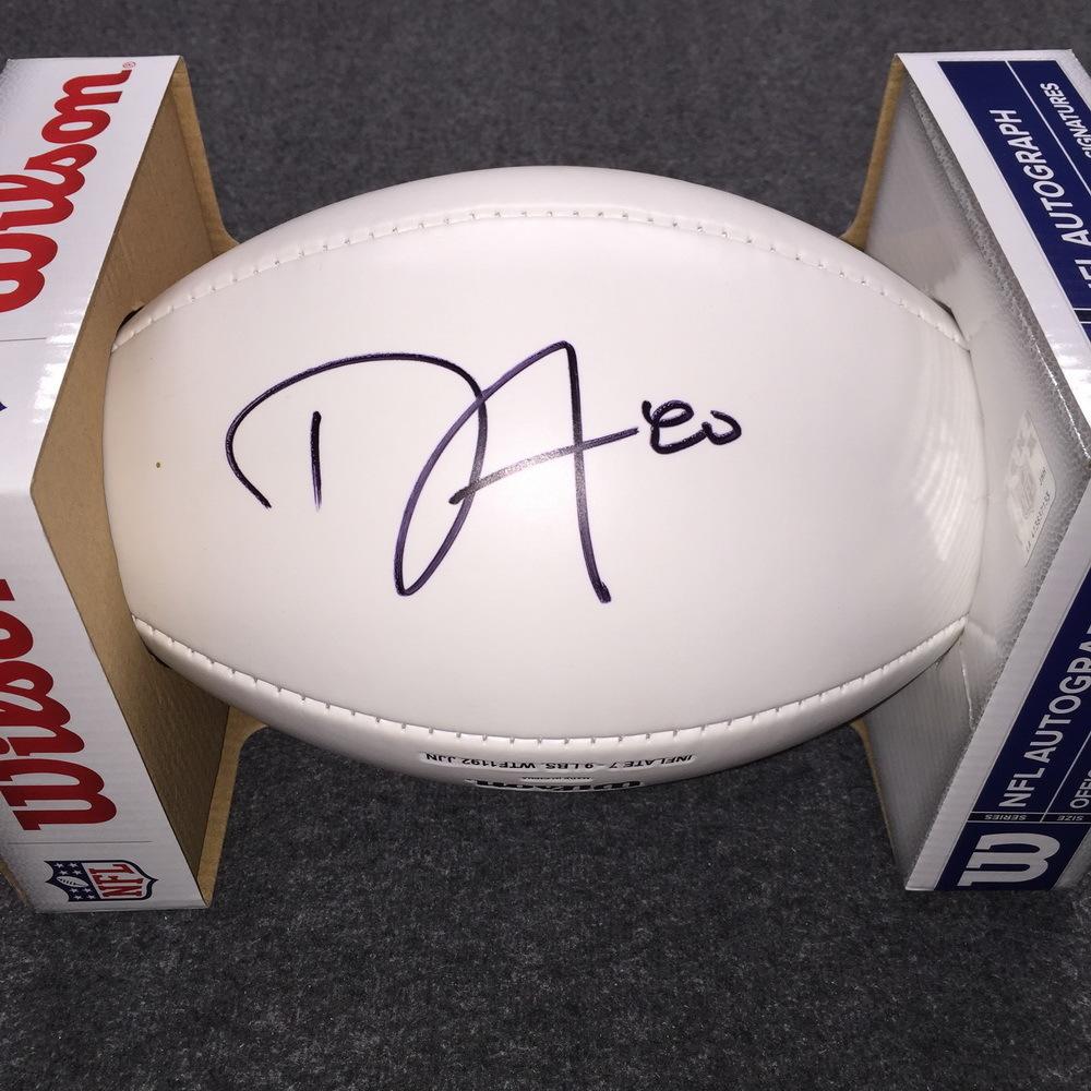Patriots - Danny Amendola signed panel ball w/ Patriots logo