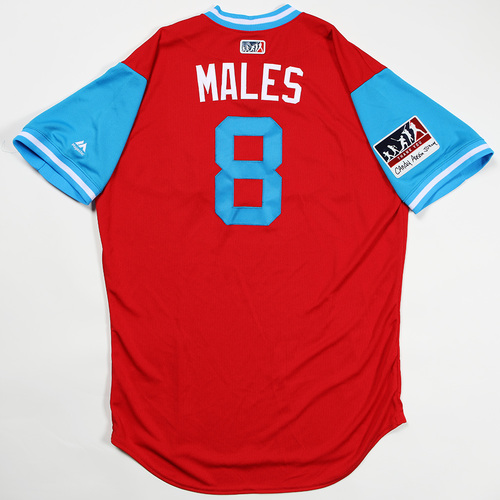 "Photo of John ""Males"" Mallee Philadelphia Phillies Team Issued Jersey 2018 Players' Weekend Jersey"