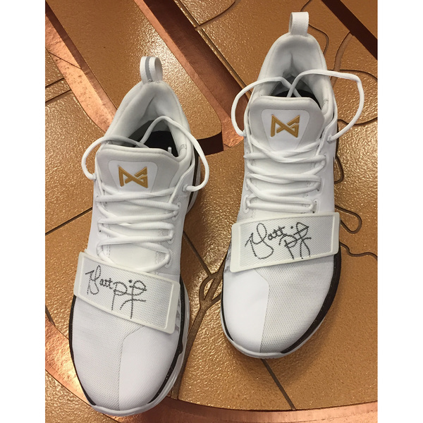 Photo of Purdue Men's Basketball Nike Shoes Signed by Coach Painter