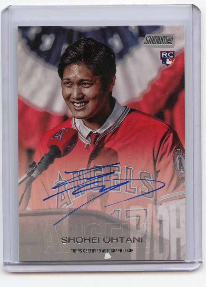 2018 Stadium Club Autographs  Shohei Ohtani