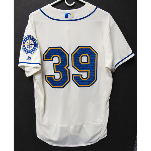 Photo of Seattle Mariners Shed Long Game-Used Marineros Jersey (Salute to Latin American) 9-15-2019