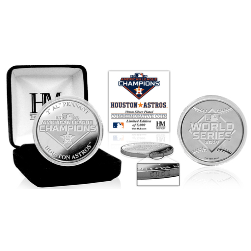 Photo of 2019 Houston Astros AL Champions Silver Mint Coin