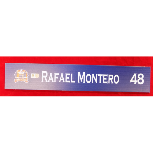Final Season Game-Used Locker Tag - Rafael Montero - 9/13/19
