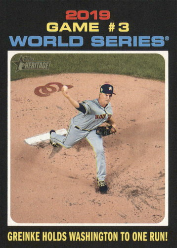 Photo of 2020 Topps Heritage #329 Zack Greinke WS HL