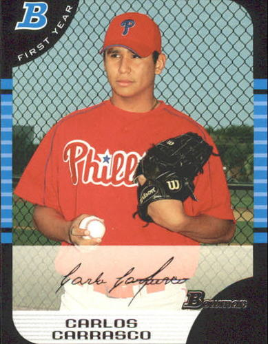 Photo of 2005 Bowman #313 Carlos Carrasco FY RC