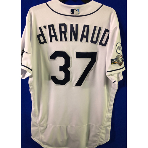 Photo of ALDS Game Used Home Jersey: Travis d'Arnaud - October 7 & 8, 2019 v HOU