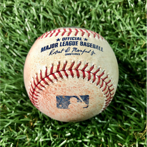 Game Used Baseball: J.D. Martinez single off Charlie Morton - July 24, 2019 v BOS