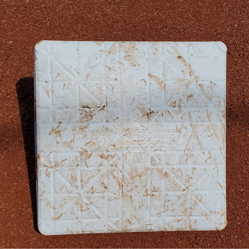 Photo of 2020 Phillies Game-Used Base - Alec Bohm 1st Career Hit (double)