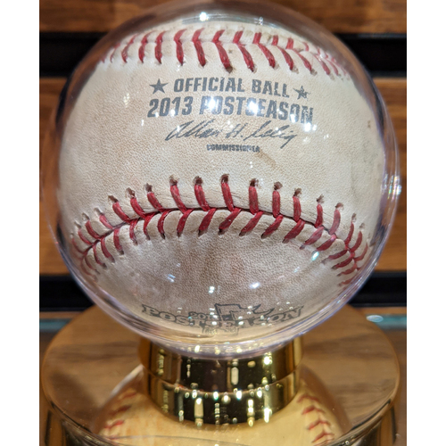Photo of 2013 ALCS Game 1 October 12, 2013 Red Sox vs. Tigers Game Used Baseball - Anibal Sanchez to David Ortiz