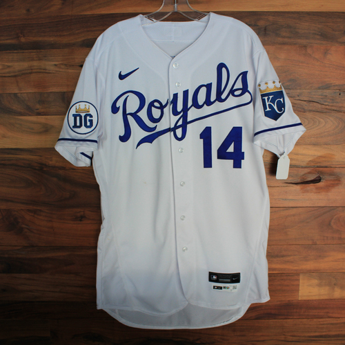 Photo of Game-Used 2020 Jersey: Edward Olivares #14 (DET @ KC 9/27/20) - Size 44