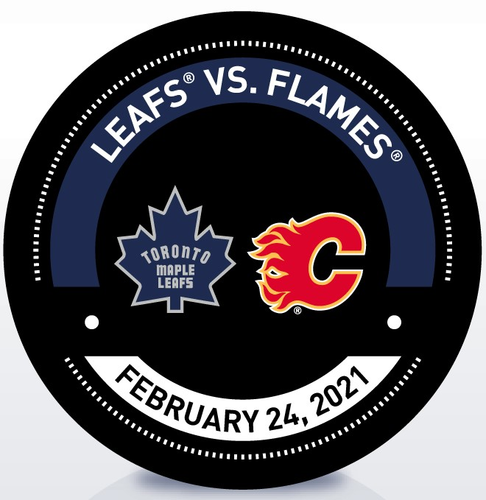 Used Warm-Up Puck TOR vs CGY 2/24/21 (Retro)