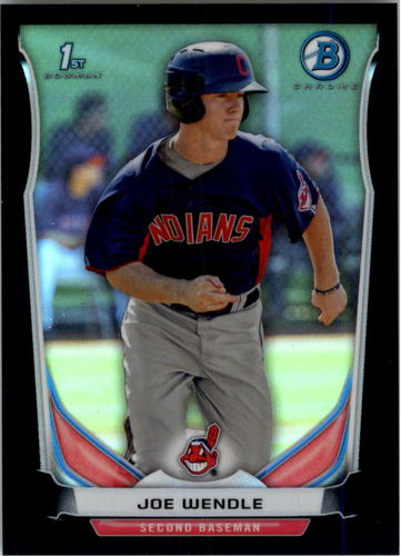Photo of 2014 Bowman Chrome Prospects Black Refractors #BCP110 Joe Wendle