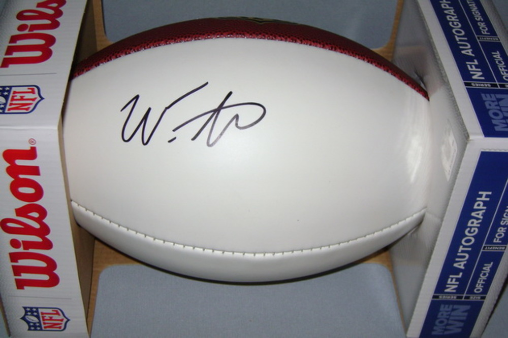 NFL - VIKINGS WES LUNT SIGNED PANEL BALL