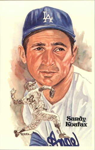 Photo of 1980-02 Perez-Steele Hall of Fame Postcards #131 Sandy Koufax -- HOF Class of 1972