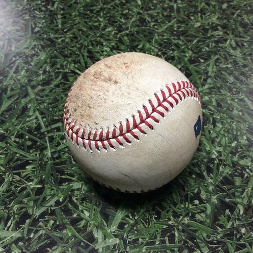 Photo of Game-Used Baseball 07/02/17 MIA@MIL - Rob Scahill to Ichiro Suzuki: Foul Ball